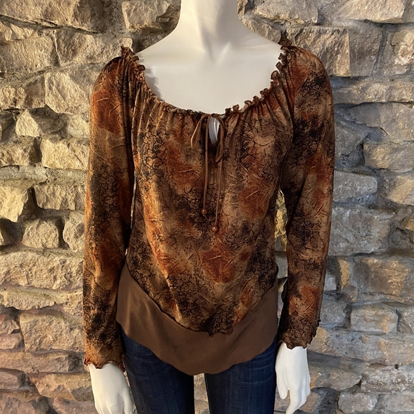 Prada Tops - Prada Peasant Blouse Size Medium